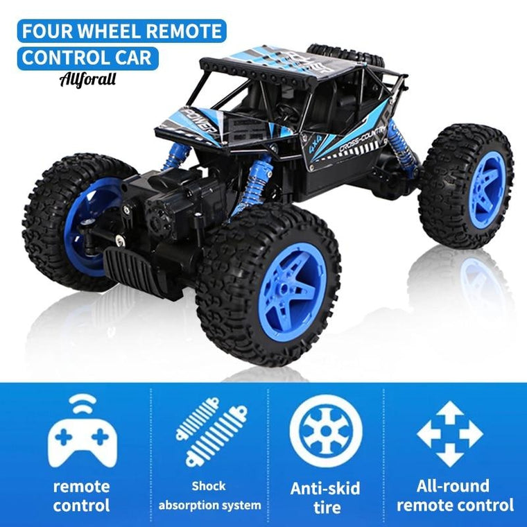 1:18 Rock Crawler Electric 4WD RC Car, Remote Radio Control Toy Car