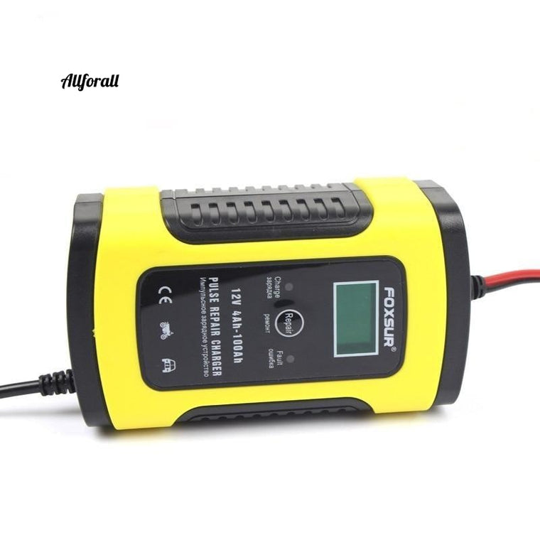12 V 5A Pulse-acculader, LCD-scherm Motor- en auto-acculader, 12 V AGM GEL NAT Lood-zuur acculader