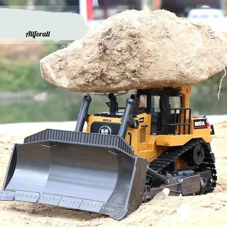 1569 Remote Control Truck, 8CH RC Bulldozer Machine on Control Car Toy for Boy, Hobby Engineering New Christmas Toy
