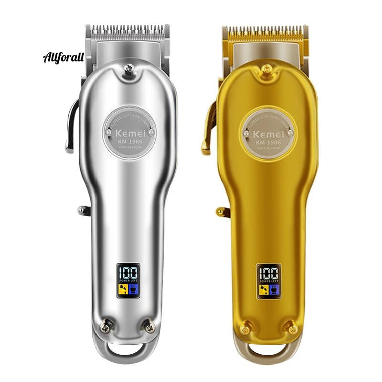 1986 All-metal Barber Professional Hair Clipper, Electric Cordless LCD Hair Trimmer-Cutting Machine