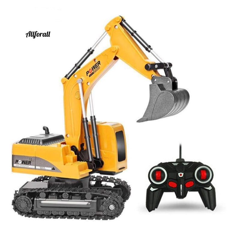 2.4Ghz 6 Channel 1:24 RC Excavator RC Toy, Engineering Alloy and plastic Excavator RTR Car
