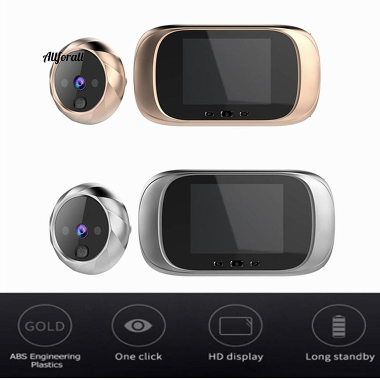 2.8 Inch LCD Color Screen Digital Doorbell, Infrared Motion Sensor Long Standby Night Vision HD Camera, Outdoor Door Bell