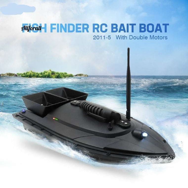 2011-5 500M Bait Fishing Boat with Two Fish Finder, 1.5kg Loading Tanks RC Remote Radio Control Device Fish Toy