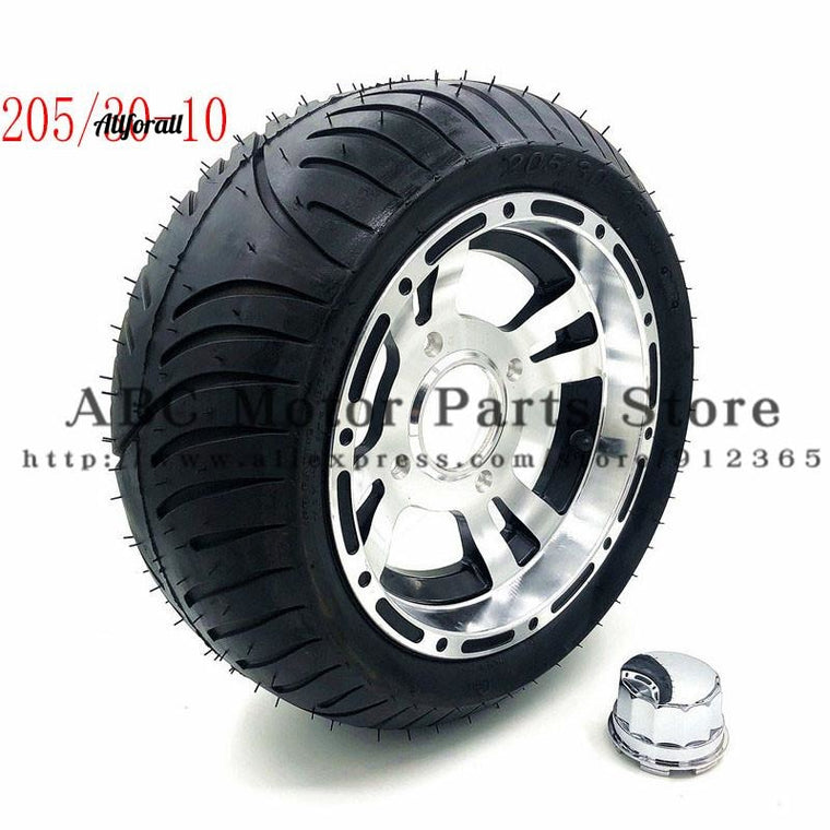 205/30-10 Go Kart Karting Motorcycle Wheel, Rim With Tubeless Tire Tyre