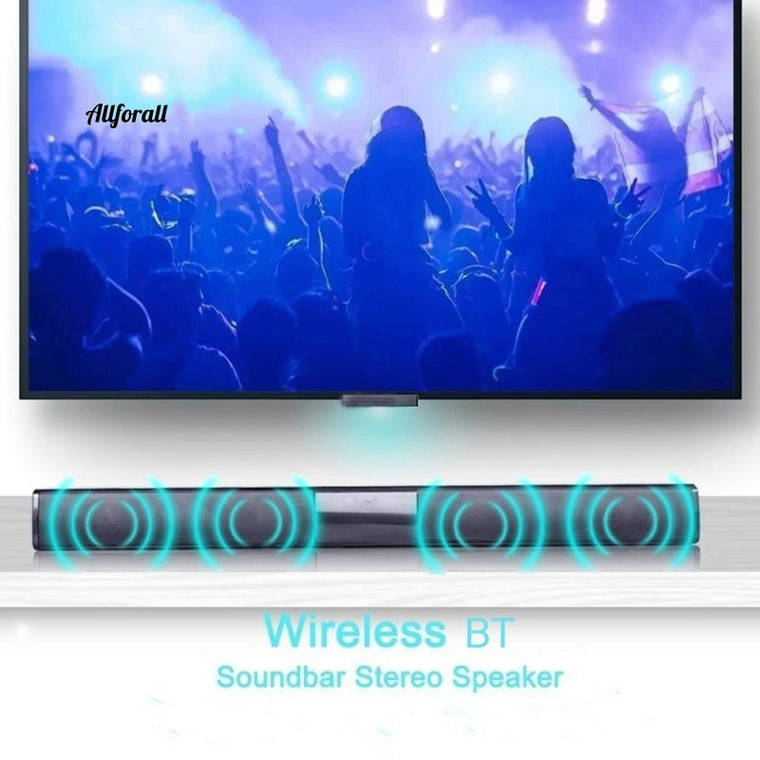 20W Portable Wireless Column Soundbar, Sven Bluetooth Speaker, Powerful 3D Music Soundbar, Home Theater Aux 3.5mm TF For TV PC
