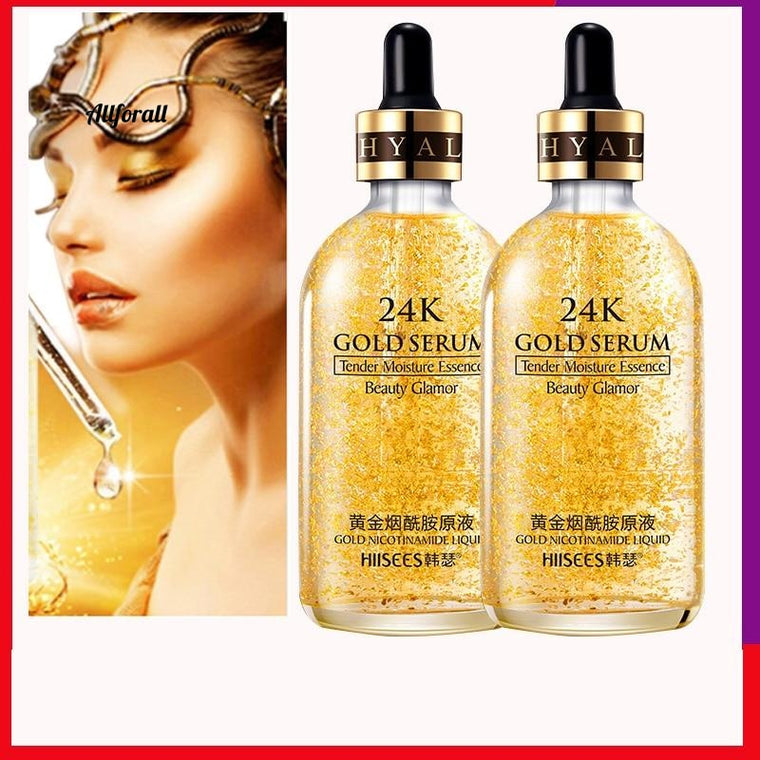 24k Gold Nicotinamide Serum Skin Care, Deep Facial Anti Aging Intensive Face Lifting Firming, Anti Wrinkle Whitening Skin Care