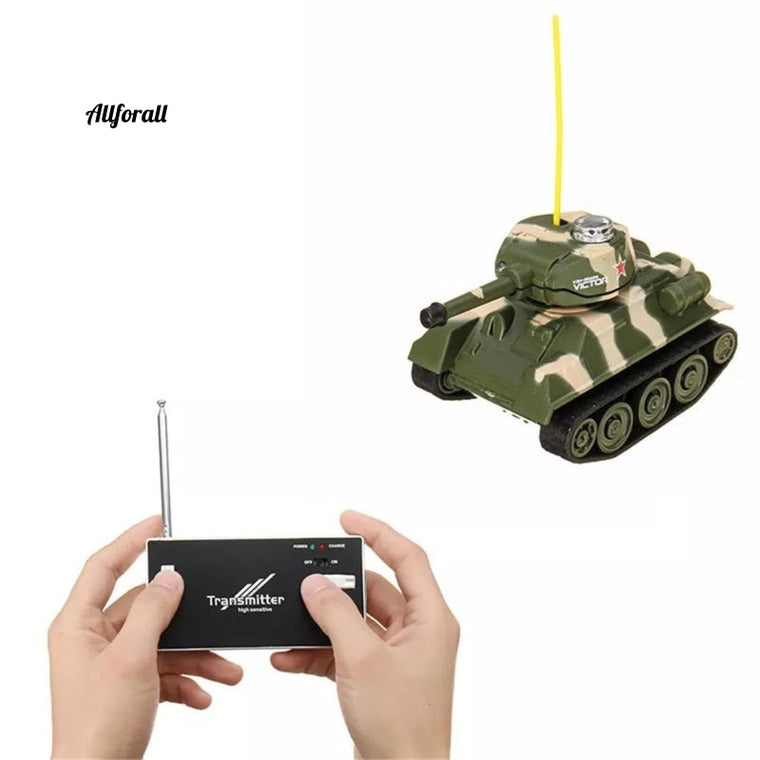 27MHZ 777-215 Mini Radio RC Battle Infrared Tank With Light Mould Toy