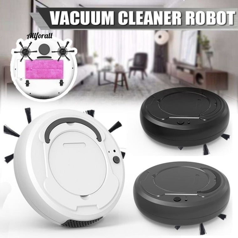 3-in-1 Auto Sweeping Robot Vacuum Cleaner, USB Rechargeable Smart Floor Mop Cleaning, Home & Office, Dry & Wet Sweeping Cleaner