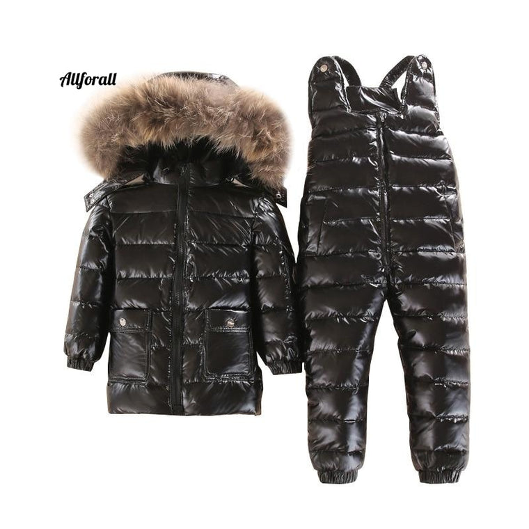 -30 Degree 3 ~ 5Y Russian Snowsuit Children Set, Baby White Down Boys Waterproof Clothes, Kids Winter Jacket For Girls