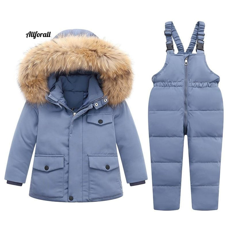 -30 ℃ Warm Winter 90% White Duck Down Jacket, Baby Girl Clothes, Kids Clothing Set, Outerwear Boy Parka Coat