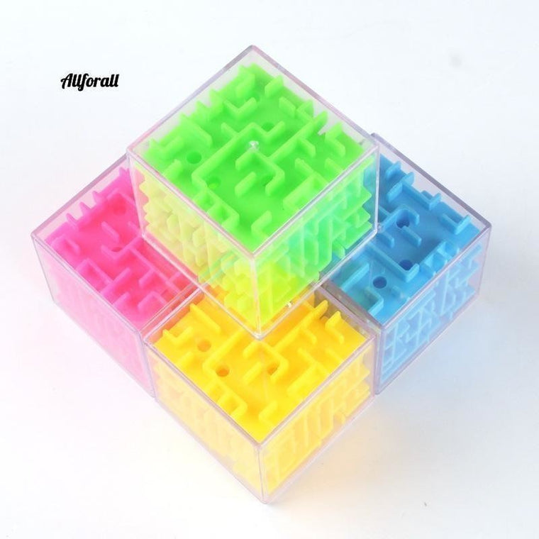 3D Maze Magic Cube Transparante zeszijdige puzzel, Speed ​​Cube Rolling Ball Toys Game