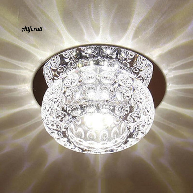 3W Modern Crystal Ceiling Light Decorative Crystal Ceiling Lamp Light