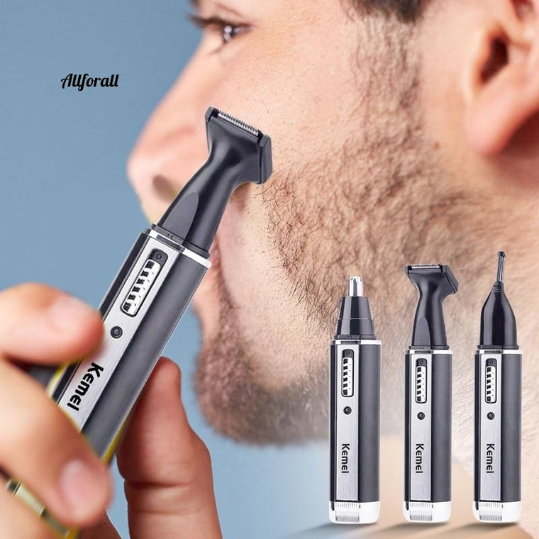 4 in 1 Rechargeable Men Electric Nose, Ear, Hair Trimmer, Painless Women Trimming Sideburns Eyebrows Shaver