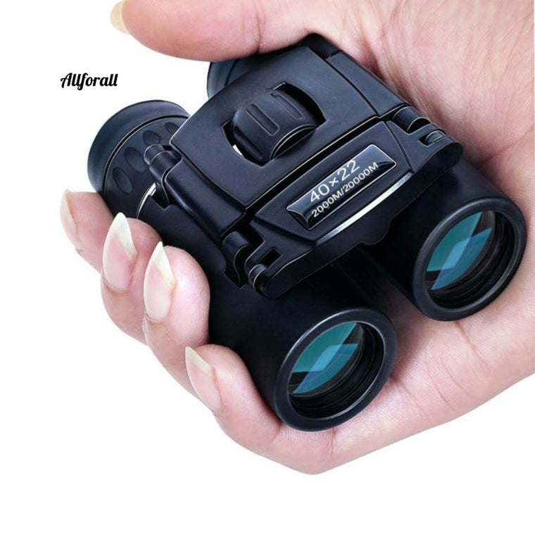 40x22 Compact Zoom Binoculars Long Range, 2000m Folding HD Powerful Mini Telescope, BAK4 FMC Optics Sports