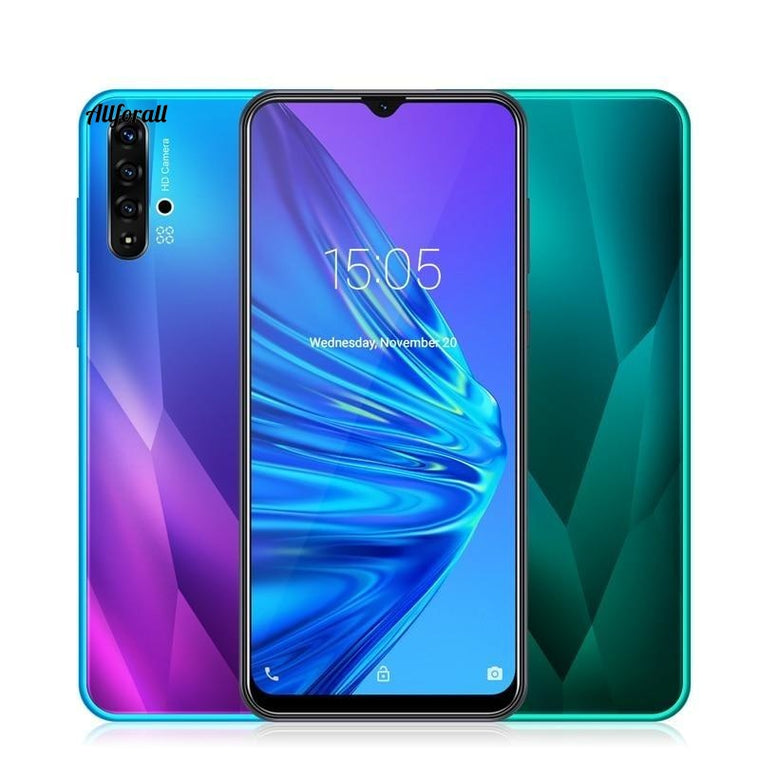 6.5 Inch Water-drop Smartphone, Android 9.0 1GB 4GB MTK6580 Quad Core 5MP Camera, 3000mAh GPS WiFi, 3G Big Screen