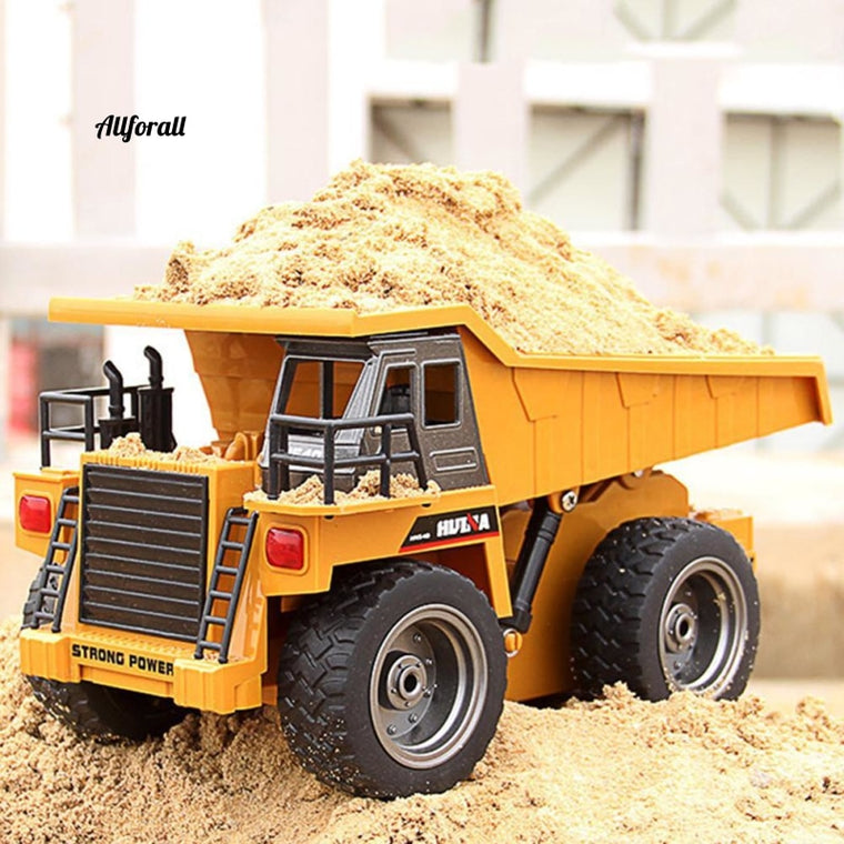 6-Channel RC Construction Vehicle, Dump Truck Model RC Truck, Rock Crawler, Remote Radio Controlled Toy Car