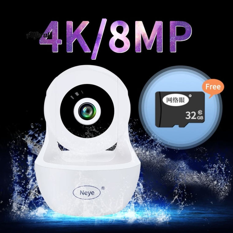 8MP 4K Baby Monitor Wireless Dome ip Camera, Two Way Audio With Infrared AI Auto Track Security pan-tilt Camera