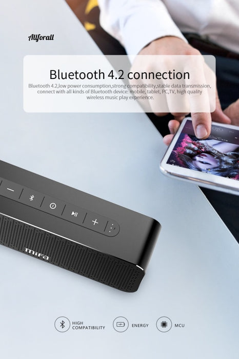 A20 Bluetooth-högtalare, metallbärbar Super Bass Wireless Bluetooth 4.2 3D Digital Ljud Handfri högtalare, MIC TWS