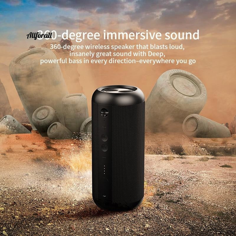 A8 Bluetooth Speaker, 30W Stereo Sound With IPX7 Waterproof, 12H Playtime Superior Sound