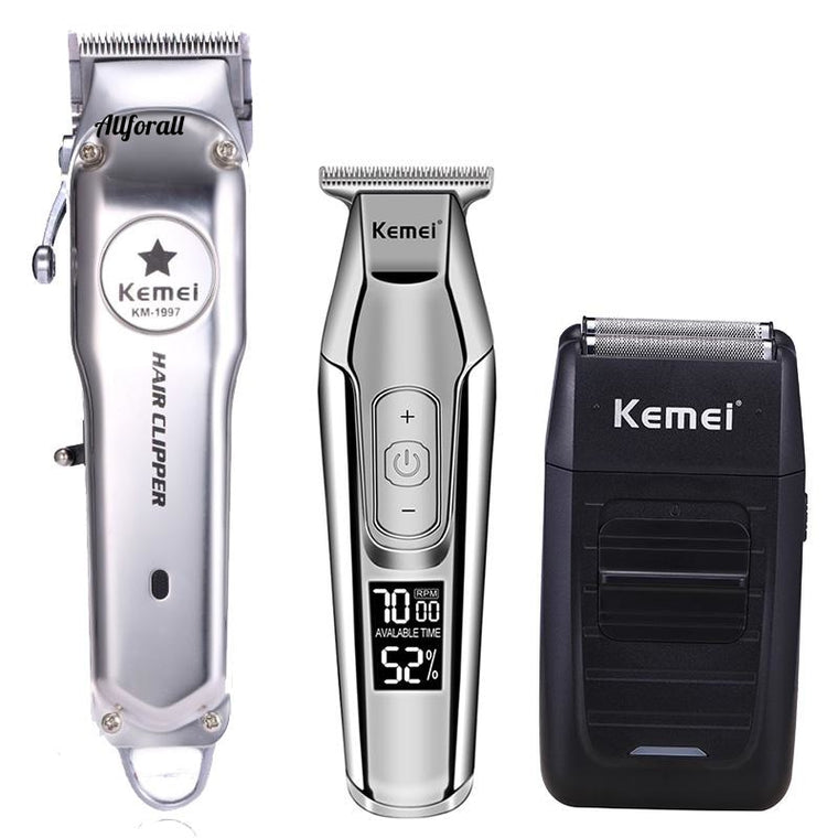 All Metal Professional Electric Hair Clipper, Rechargeable Hair Trimmer, Haircut Machine Kit, KM-1997 KM-1996 KM-5027 KM-1102