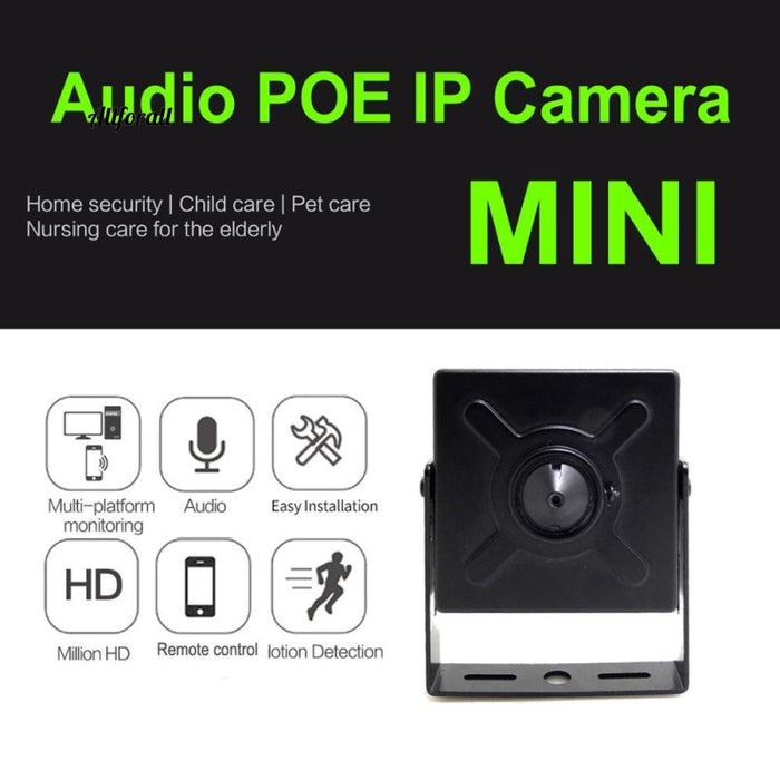 Audio Mini Ip Camera 720P 960P 1080P Hd Poe Cctv Security Video Surveillance 2Mp Εσωτερικό σπίτι Onvif