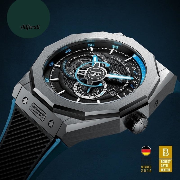 Automatic Mechanical Watch, Men Top Brand Luxury Leather Wristwatch, Waterproof Sports Watches