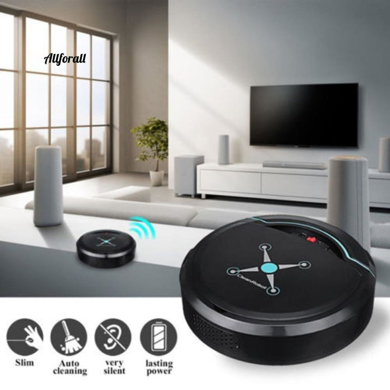 Automatic Smart Robot Vacuum Cleaner, Small Vacuum Sweeping Robot, Floor Dirt Auto USB Rechargeable Cleaning Machine