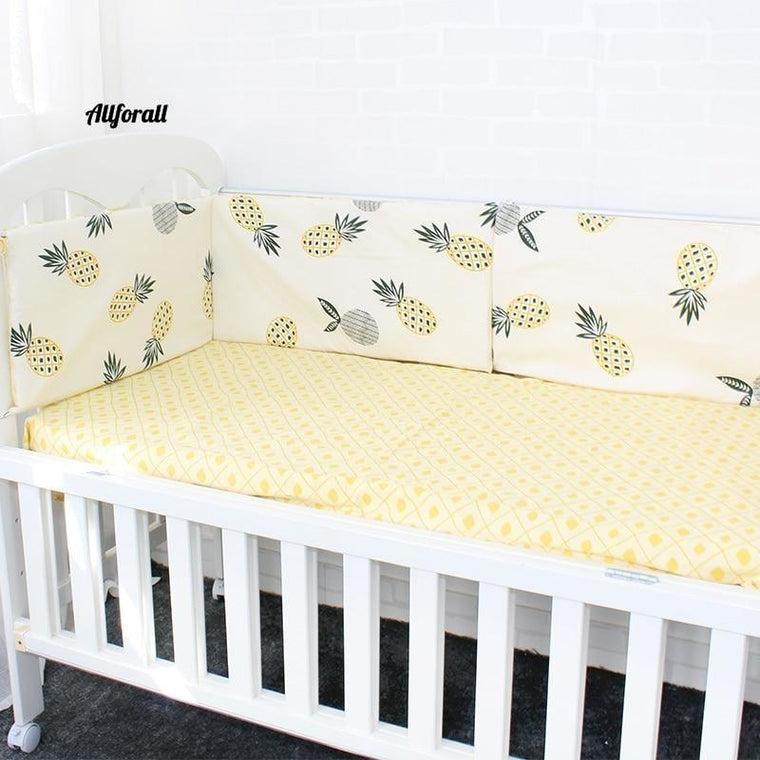 Baby Bed Bumper, Soft Breathable Pattern Baby Crib Protector For Children Bedding Set, 120cm Per Pcs