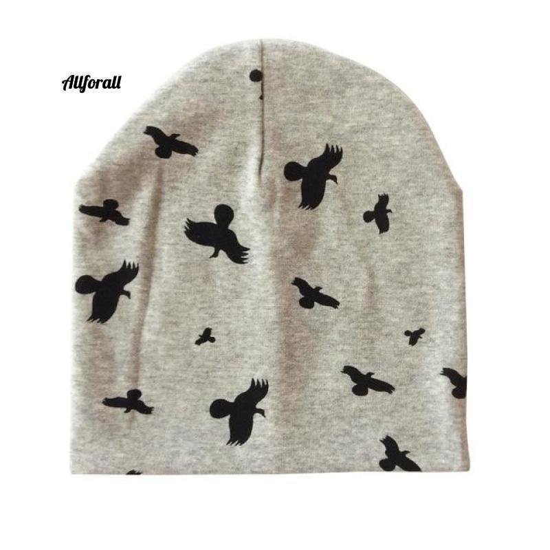 Baby Caps For Boys & Girls, Spring, Autumn & Winter Children's Hats baby-hats allforall grey bird
