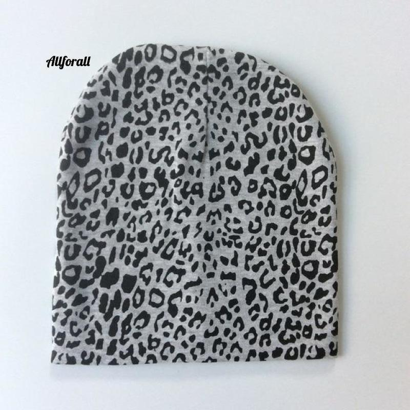 Baby Caps For Boys & Girls, Spring, Autumn & Winter Children's Hats baby-hats allforall grey leopard