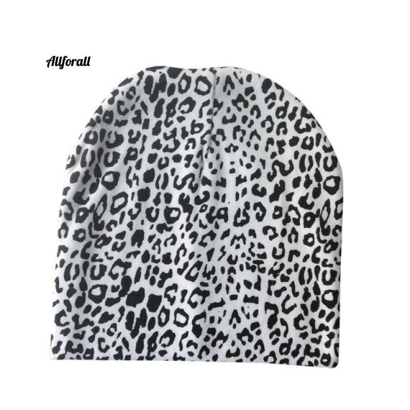 Baby Caps For Boys & Girls, Spring, Autumn & Winter Children's Hats baby-hats allforall white leopard