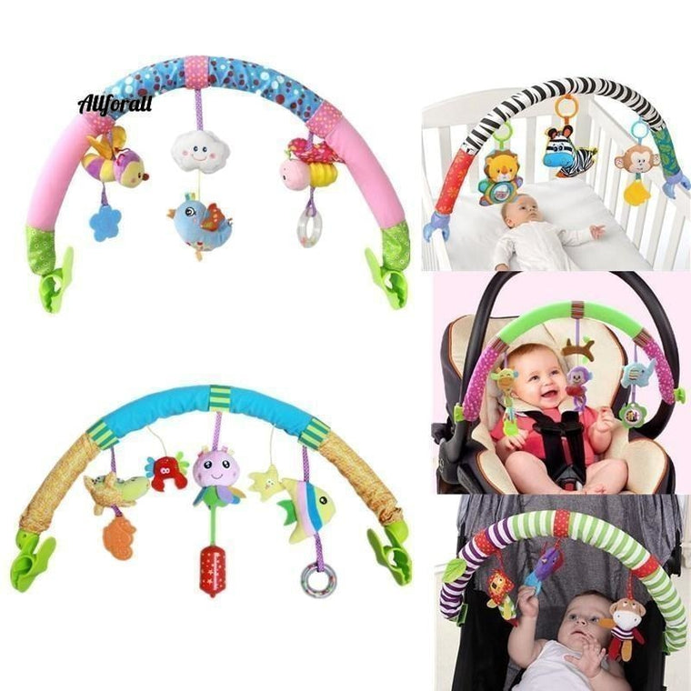 Baby Hanging Toys Stroller Bed Crib For Tots, Cots rattles seat plush Stroller Toy