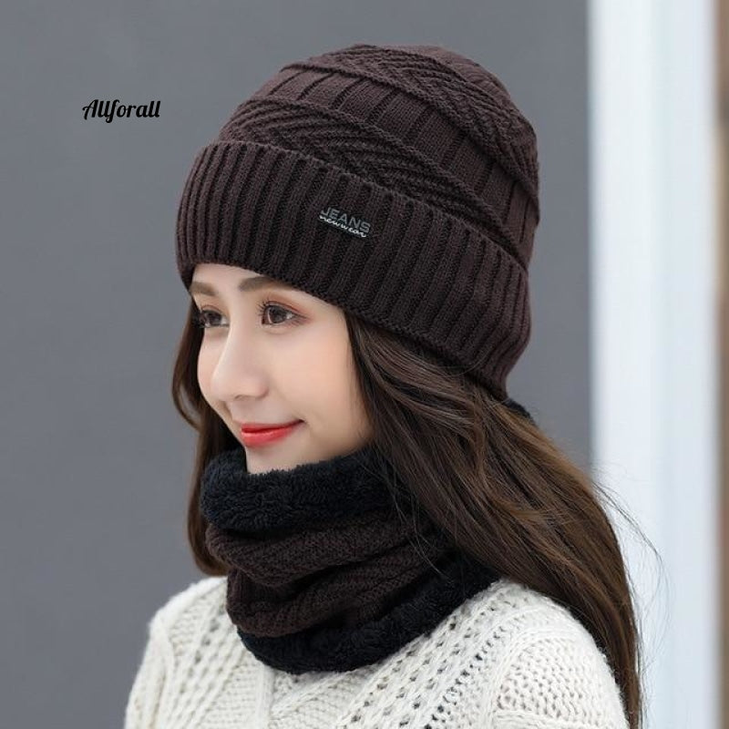 Balaclava Women's Sticked Hat Scarf Cap, Neck Warmer Winter Hats For Men Women