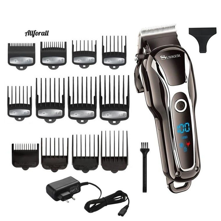 Barber Hair Clipper, Professional Men Hair Trimmer, LCD Electric Hair Cutting, Machine Salon Tool Haircut