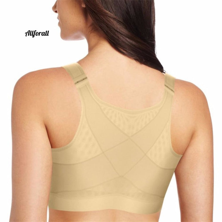 BH-Heber Drahtfrei Push-Up Brust Top Frauen Brustoperative Supporter, Chirurgischer Vorderhaken Einstellen Recovery-BH