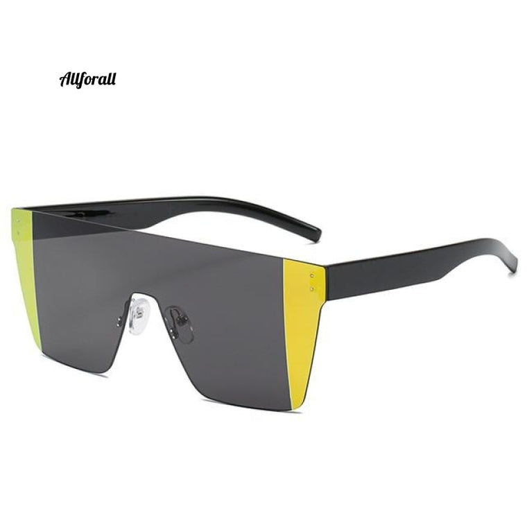 Brand Design Sunglasses, New Fashion Vintage Sunglasses For Men & Women, Classic Rimless Multi-color Sunglasses, UV400