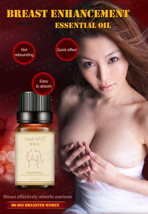 Breast Enlargement Plump Essential Oil, 10ml Enlarge Growth Big Boobs Firming Busty Breast Massage Oil for Women