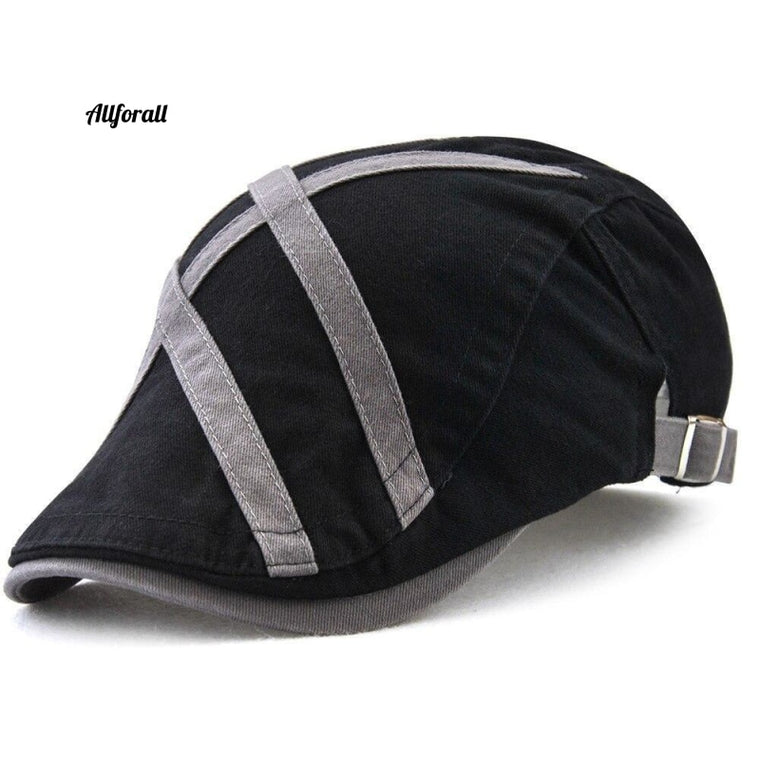 British Gentleman Golf Hat, Men Casual Cotton Newsboy Duckbill Visor Beret Cap, Unisex Cap