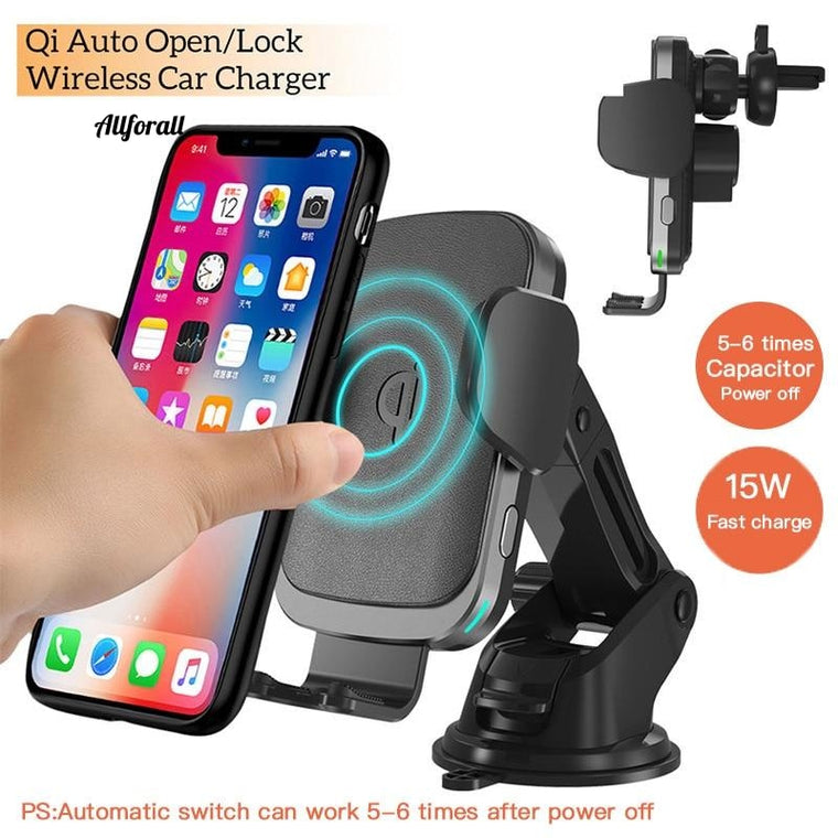 Capacitor version 15W Qi Wireless Car Charger, Fast Wireless Charger For iPhoneXS Phone Holder