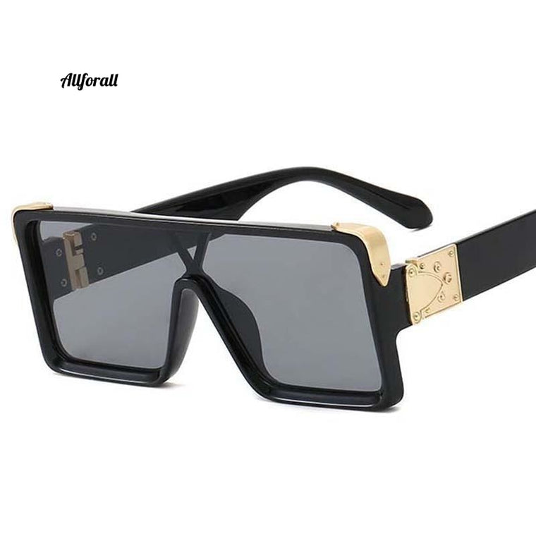 Casual Fashion Siamese UV Sunglasses, New Men & Women Square Big Frame Sunglasses
