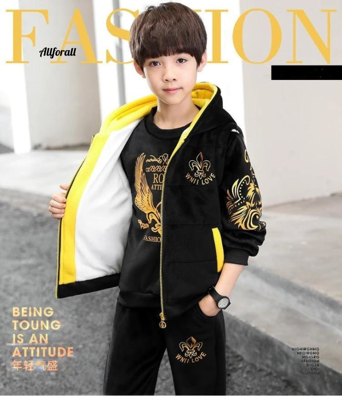 Children's Clothes For The Boys, Sports Three-piece Suit Autumn and Winter Boys Clothes