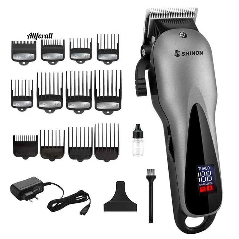 Cordless Hair Clippers, Barber Professional Electric Hair Cutter, Men Adjustable Hair Cutting Machine
