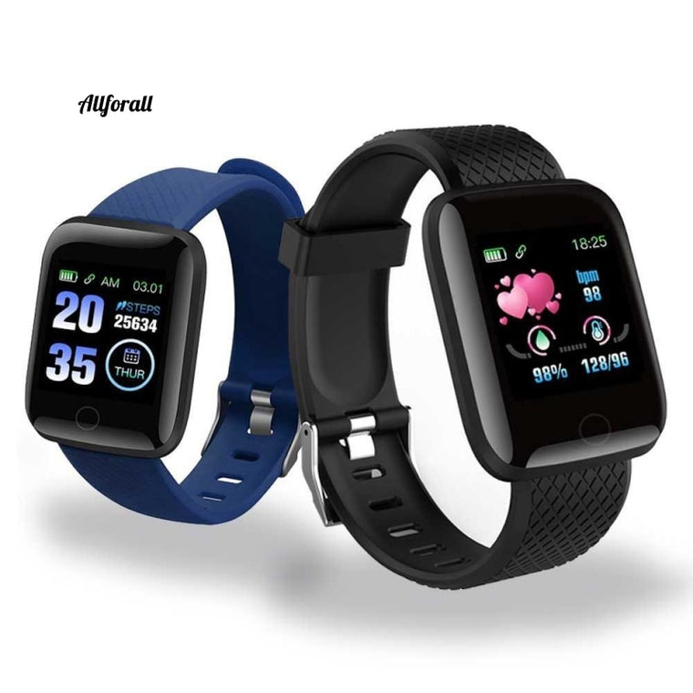 D13 Smart Watche, 116 Plus hjärtfrekvens smart armband, sport vattentät Smartwatch Android A2