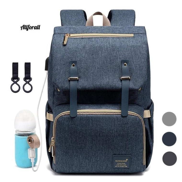 Plenic Bag Backpack za mame, USB materinstvo Baby Care Nappy Vrečke za nego