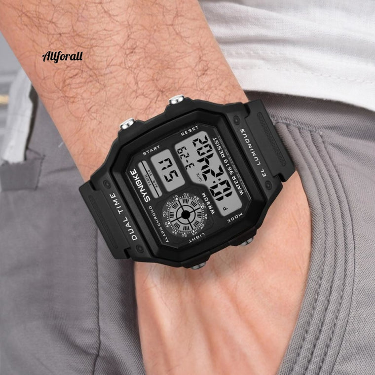 Digital Watche, Sports Luminous Chronograph Wasserdichte ultradünne elektronische Armbanduhren