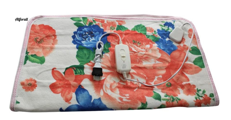 Electric Blanket, Pure White Manta Electrical 150x70cm Electric Heating Blanket for Bed, 220v Heated Blanket