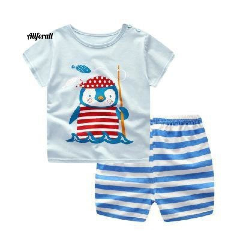 Fashion Lovely Baby Boy & Girl Sommer Säuglingskleidung, gestreifte Shorts + gelbe Top T-Shirts Kleidung Babykleidung allforall Eule 12M