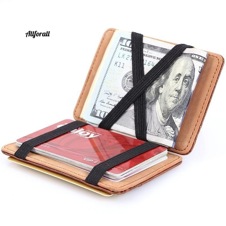 Fashion Men Slim Wallet Männlich Ultradünne Short Men Magic Wallet Geld Geldkartenhalter Geldbörse