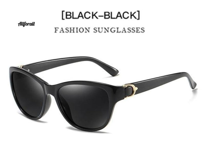 Fashion Women Polarized Sonnenbrille, Classic Eyeglasses Zubehör allforall Black Black Package A.