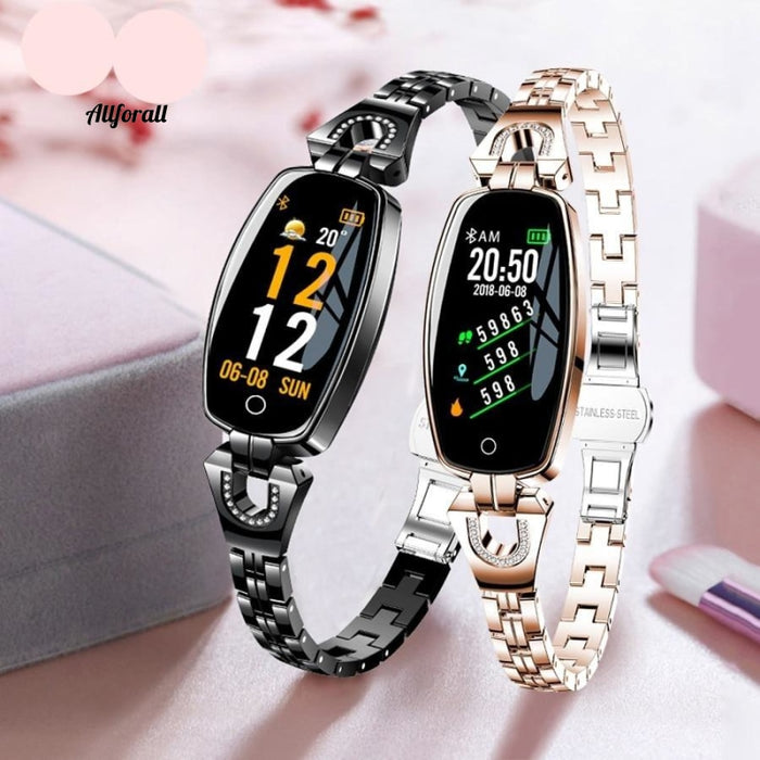 Mode Kvinder Smart Watch 0.96 Oled Puls Blodtryk Monitor Monitor Pedometer Fitness Tracker